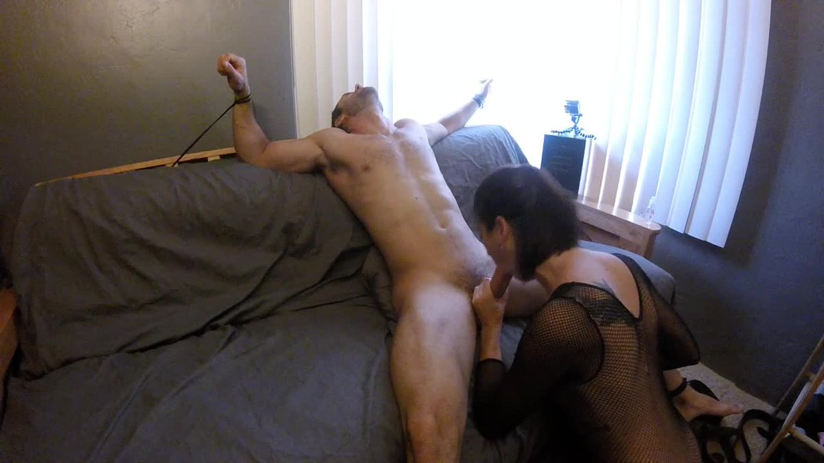 Tied up blowjob