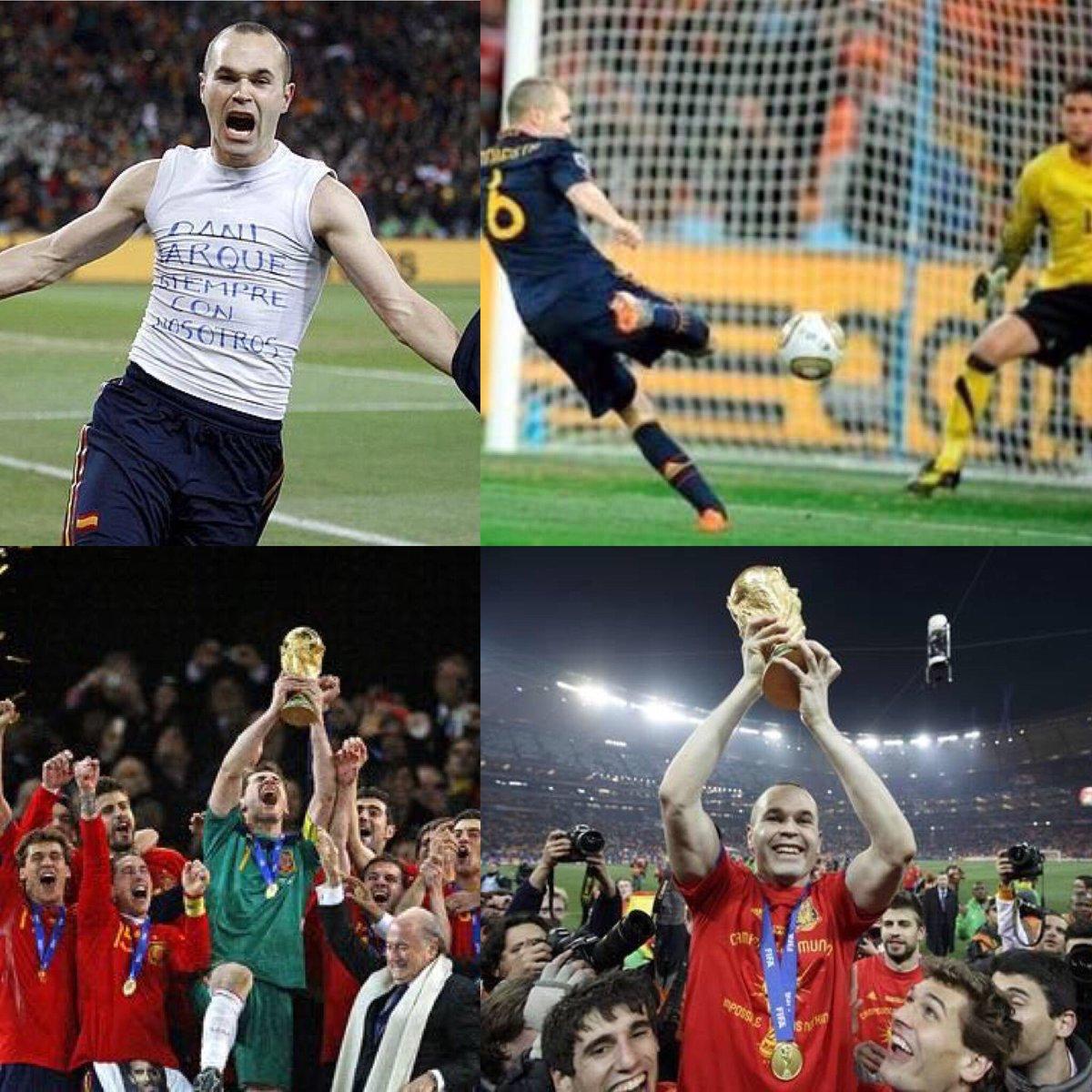 El 11 de Julio siempre estará grabado en nuestros corazones. @SeFutbol #campeonesdelmundo #sudafrica2010