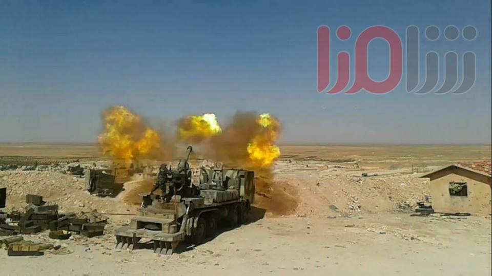 مدفع M-46 عيار 130 ملم الذاتي الحركه المدولب المطور من قبل الجيش السوري  DEc3eIsWAAAWyVx