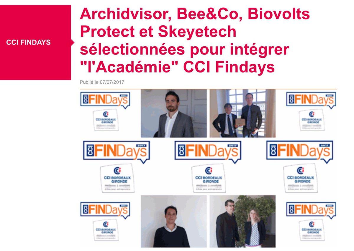#CCIFINDays: @skeyetech parmi 24 entreprises pour intégrer L'Académie le 18 et rencontrer les investisseurs le 19/09 https://t.co/QKWKVa2lg3
