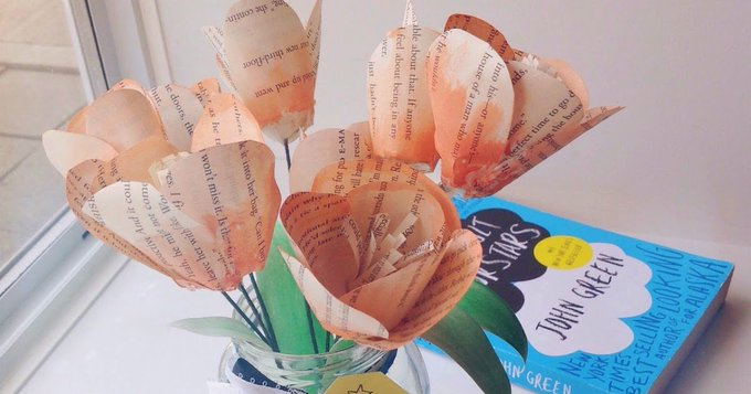 TFIOS Paper Tulips DIY Tutorial