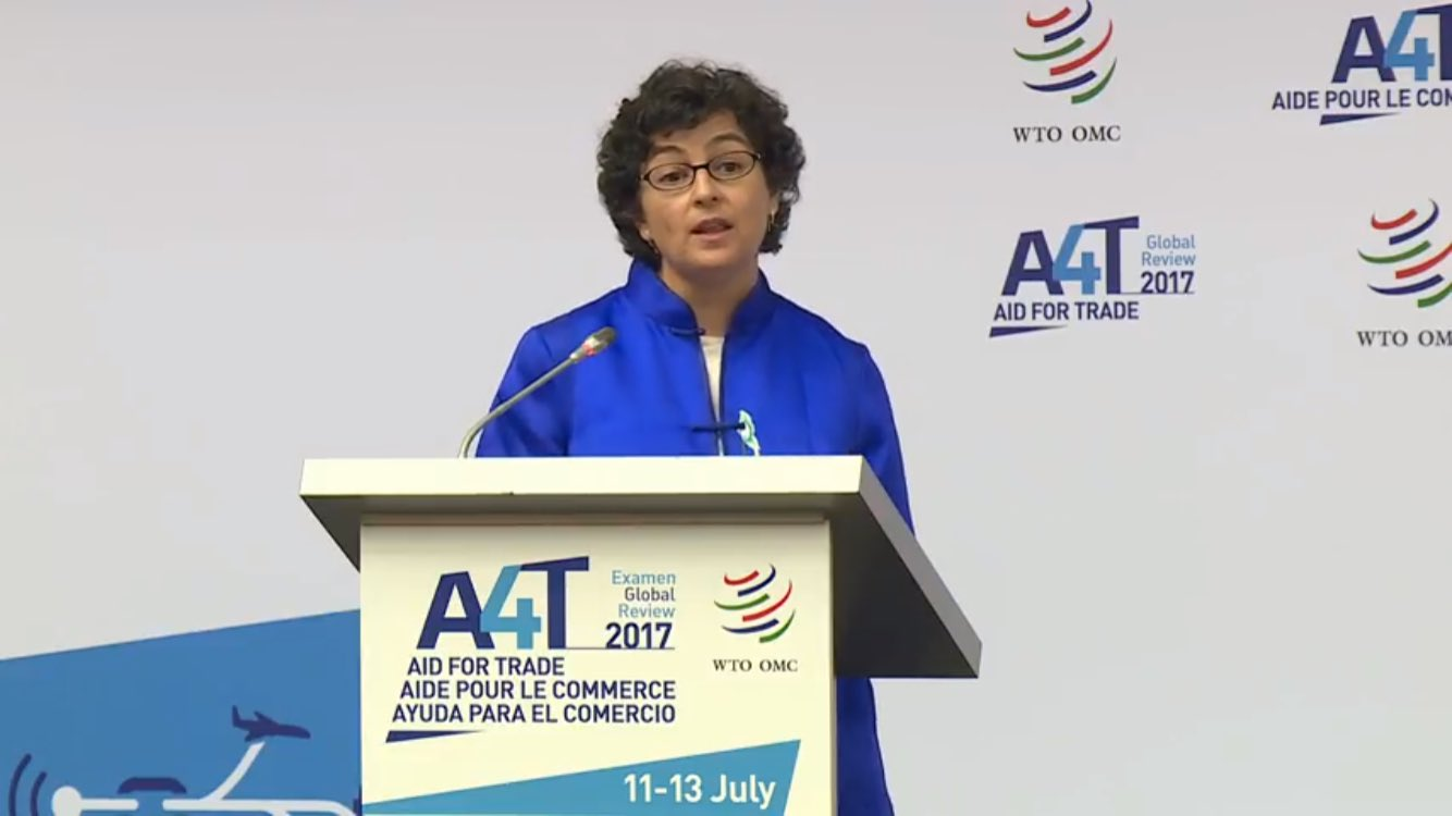 Personally (and professionally) enjoying @AranchaGlezLaya speech at #aid4trade. https://t.co/JkhGXk3AwR