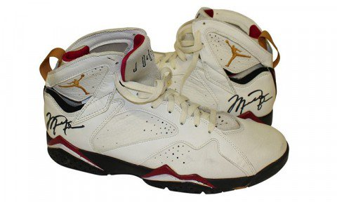 5f7a9f4eb49451 michael jordans game worn 1992 air jordan 7s are up for auction