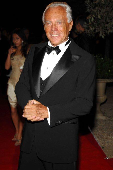 Happy 83rd birthday Giorgio Armani.