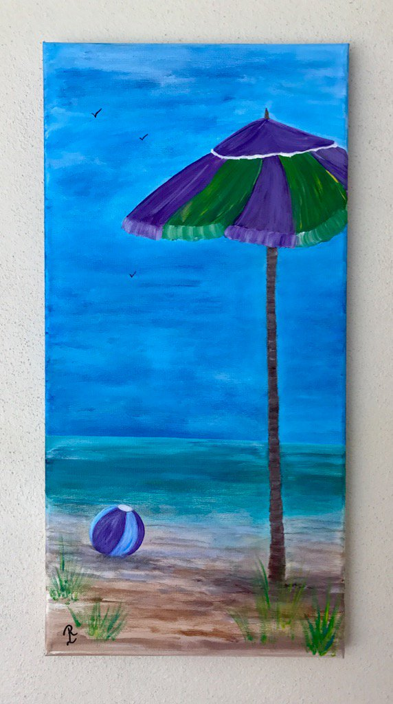 &quot;Just Another Day In Paradise&quot; #acrylicpainting #ArtLovers #FloridaArtist #FloridaArt #Tropical<br>http://pic.twitter.com/cYDJ9E86Ef