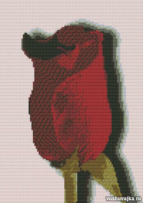Схема вышивки клубника со сливками
