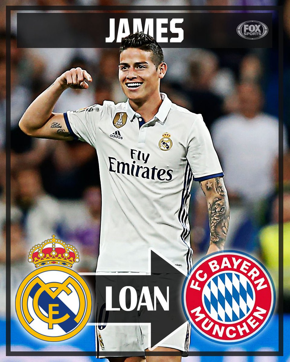 5c33e50271b stunner bayern munich sign real madrid star james rodriguez on a 2 year  loan with an