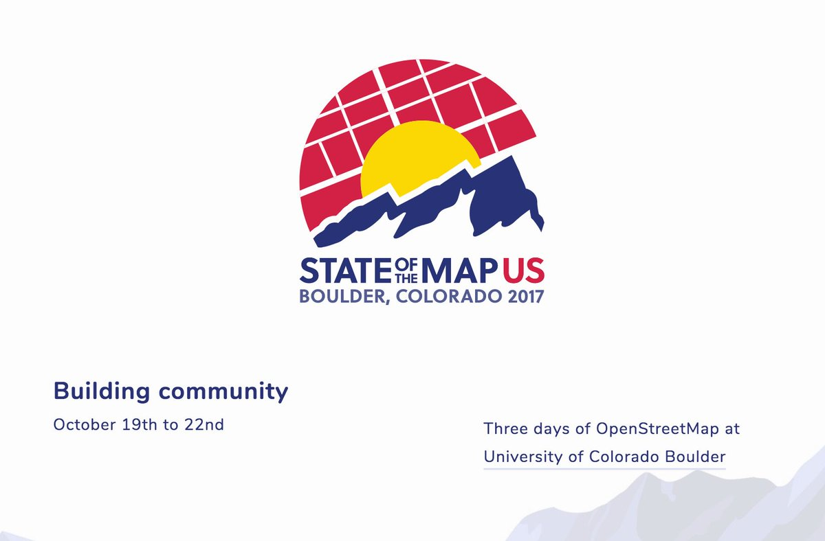 Maggie MaggieMaps Twitter - State of the map us 2017