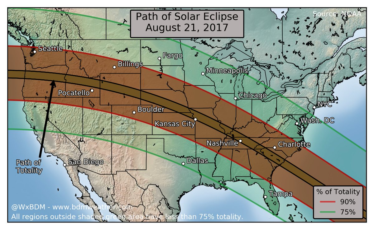 Weather Maps on Twitter Solar Eclipse August 21 2017 The US