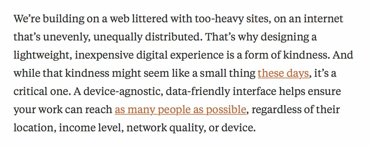 There's a human cost for slow, heavy websites. Well said, @beep. https://t.co/fCSdMiKQWp