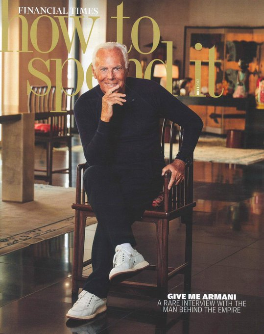 "Happy Birthday \""Giorgio Armani\"""