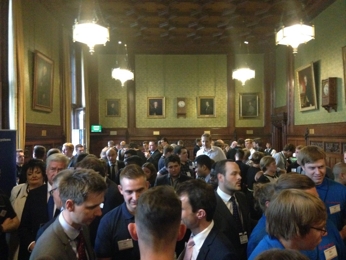 MPs from every part of the UK meeting aerospace and defence apprentices at ADS Parliamentary Reception. #ADSapprentices