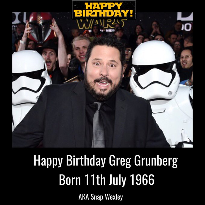 Happy Birthday Greg Grunberg aka Snap Wexley born 11th July 1966.