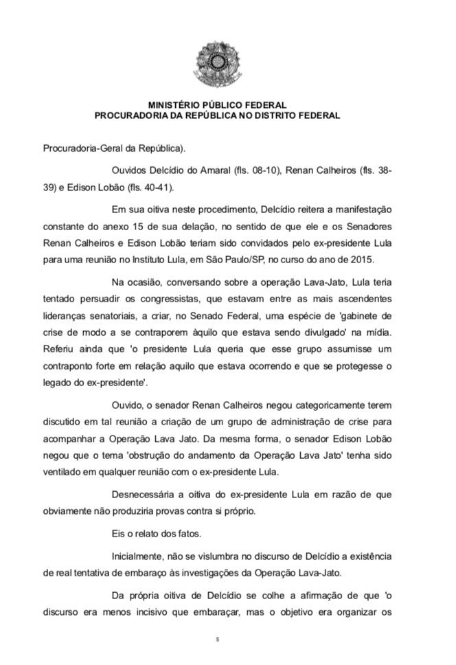 Após ouvir Delcídio e senadores, procurador Ivan Marx concluiu ñ haver indícios de real tentativa de embaraço à Lava Jato por Lula e Renan