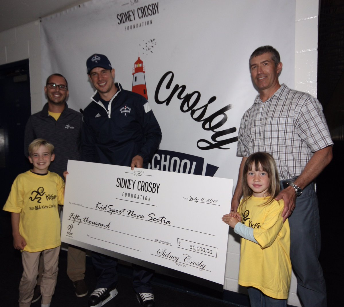 The Sidney Crosby Foundation is proud to support @KidSport_NS with a $50,000 donation! https://t.co/nnho8GLx9C