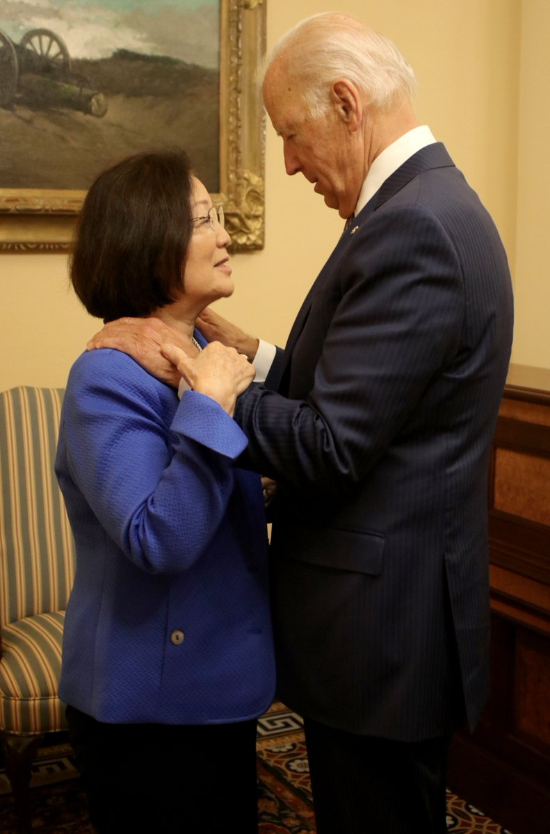 "Senator Mazie Hirono on Twitter: ""We're fighting to make sure that everyone  has access to cancer treatment. Great catching up with @JoeBiden on the  @BidenCancer Initiative… https://t.co/BNwk6gugH3"""
