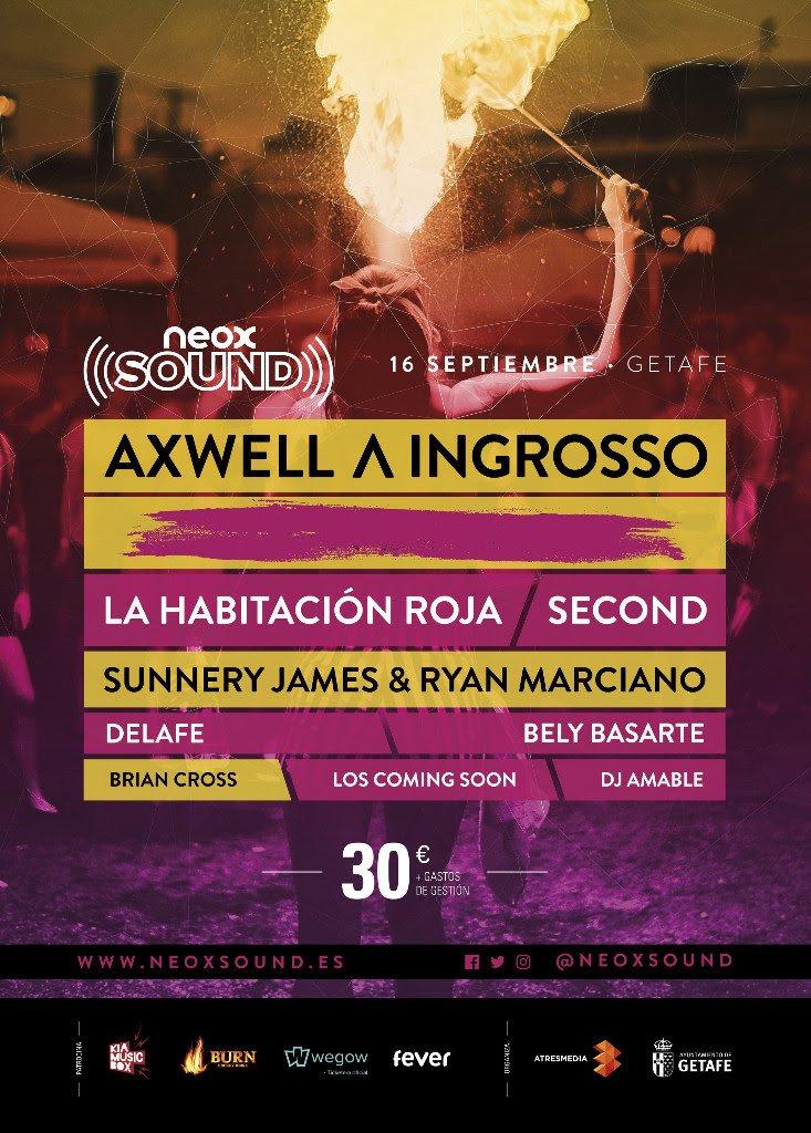 El 16 de septiembre, Getafe acogerá la celebración de #NeoxSound, un evento musical cuyo cartel está encabezado por Axwell Λ Ingrosso https://t.co/IrMnsTb4EV
