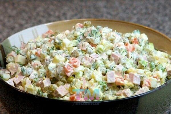 Рецепт салата оливье с фото