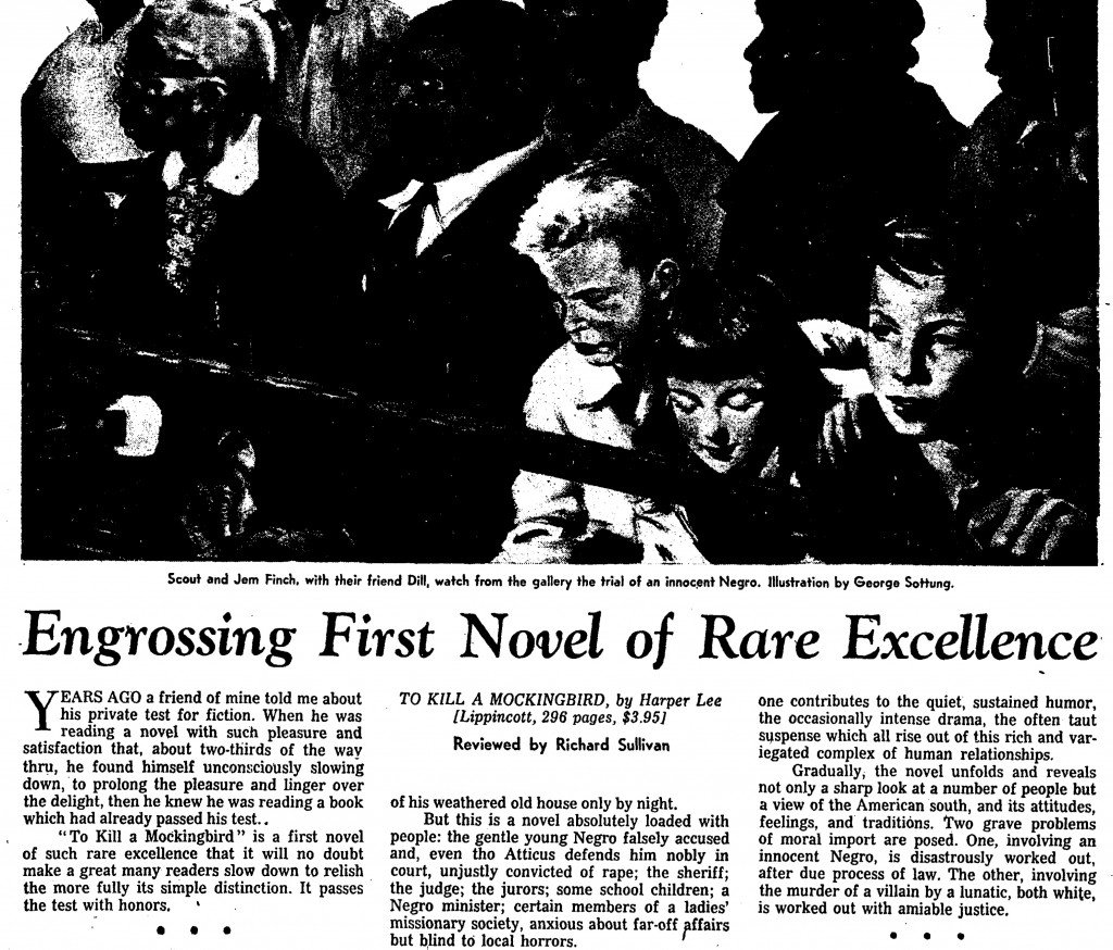August 1960 review of &quot;To Kill a Mockingbird&quot; in Time magazine  #livros #literatura #books<br>http://pic.twitter.com/YU9bBp667M