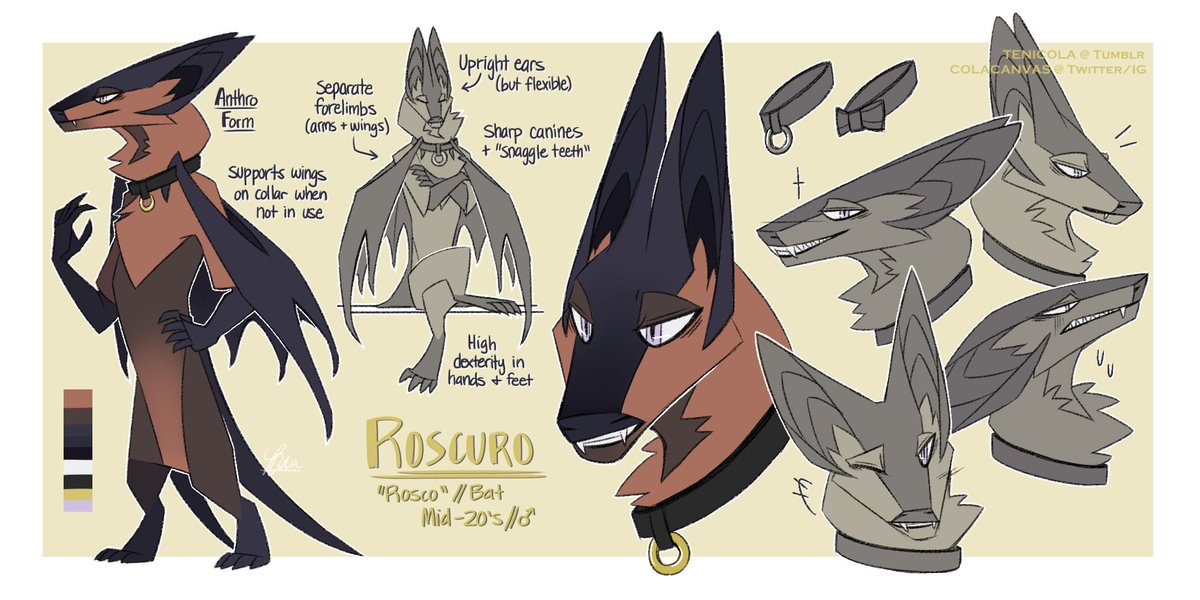 Some Recently Finished Art Of My New Oc Roscuro Usually A Bat But These Are Alternate Designs His Character In Diffe Verse Twitter