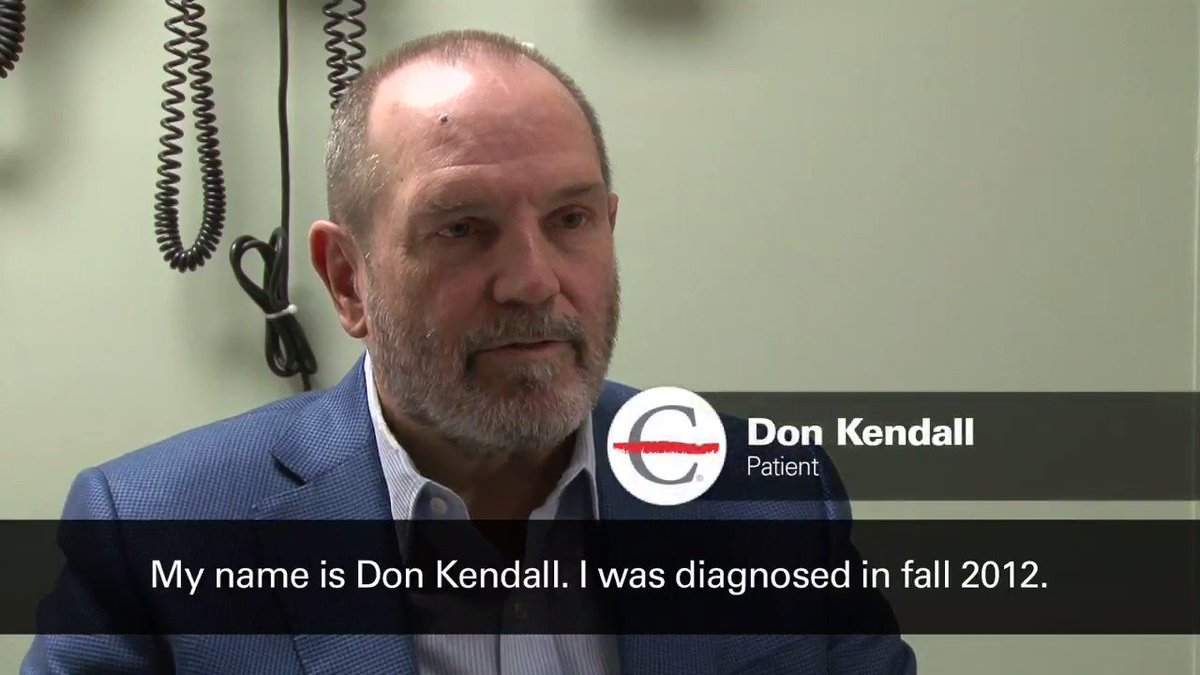 Image for the Tweet beginning: Why #multiplemyeloma survivor Don Kendall