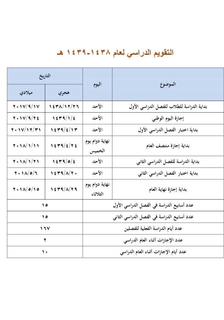 شاهد العام 1439 و 1440 رمضان اجازة التقويم الدراسي للاعوام القادمة من 1438 إلى 1443 مجموعة التميز البريدية