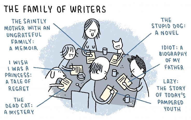 LOL The family of #writers: