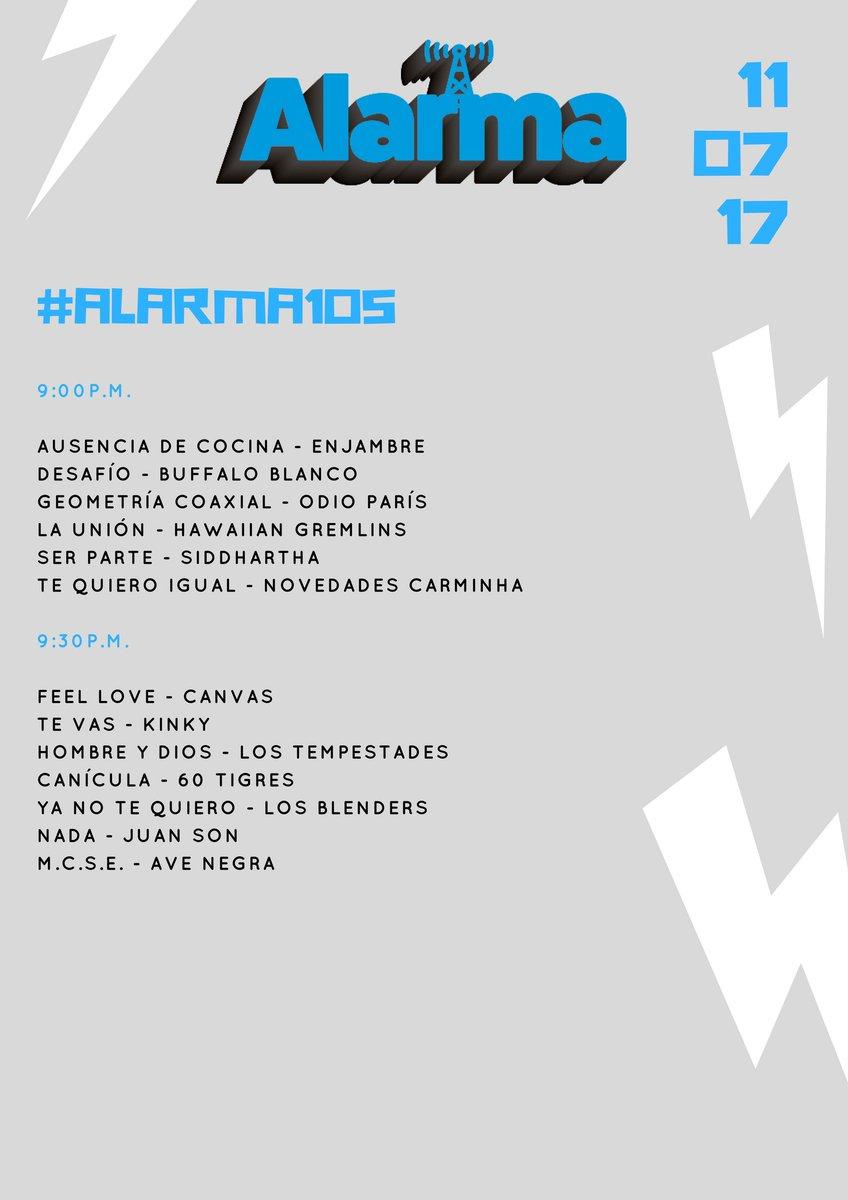 Gracias por acompañarme este martes en Alarma por @Reactor105. #Alarma105 #SeguimosSurgiendo. Acá lo que sonó: https://t.co/q6XQLubijp