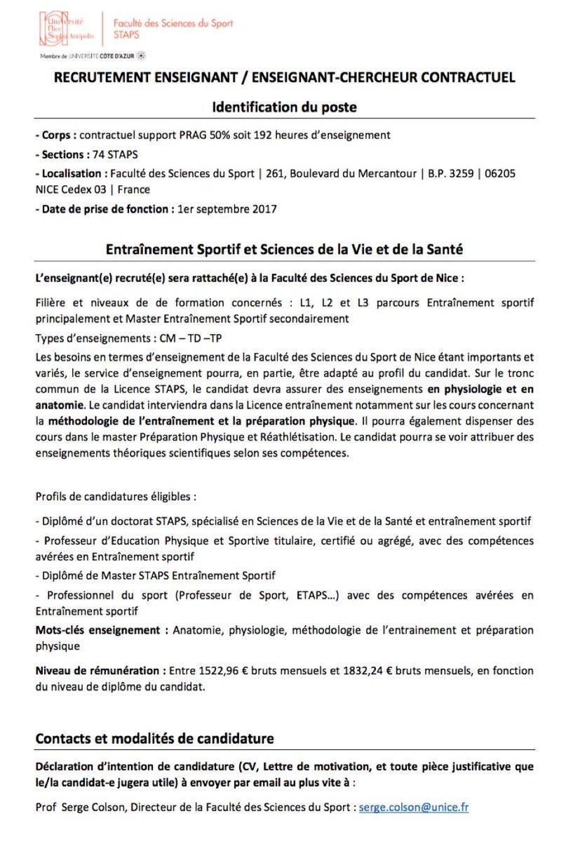 Jb Morin On Twitter La Faculté Des Sciences Du Sport De