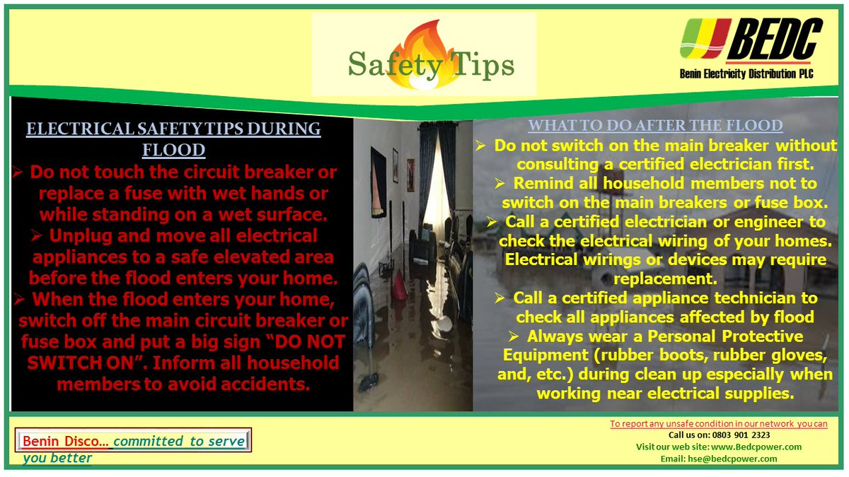 Bedc On Twitter Flood Safety Tips Safetyfirst Bedcpower Fuse Box