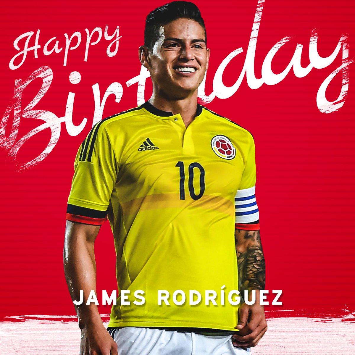 Alles Gute zum 26. Geburtstag, @jamesdrodriguez! 🎊🎂🎉 #MiaSanMia #FCBayern #ServusJames