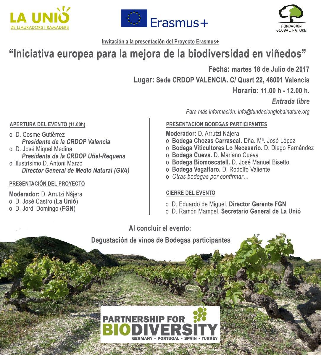 """Resultat d'imatges de """"Iniciativa Europea para la Mejora de la Biodiversidad en Viñedos"""""""