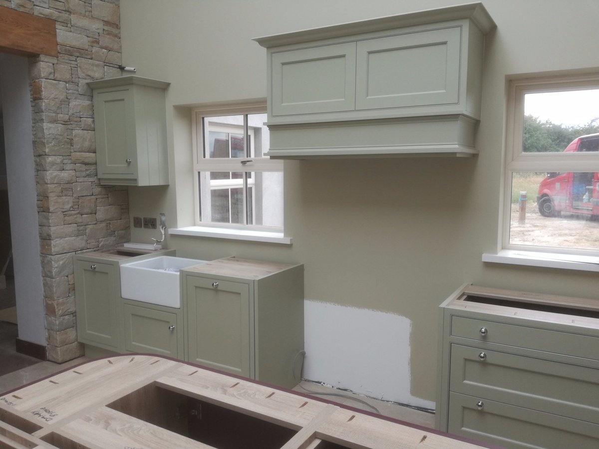 Ornan Kitchens On Twitter Calgary Ash In Frame Painted Farrow And Ball French Gray Island Brinjal Aisling
