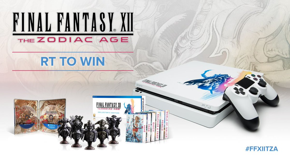 RT for a chance to win a custom #FFXIITZA PS4 and FFXII: The Zodiac Age Collector's Edition! TC's: http://www.ign.com/articles/2017/07/10/win-a-custom-painted-final-fantasy-xii-ps4-and-final-fantasy-xii-the-zodiac-age-collectors-edition?page=2… UK 18+ #sponsored