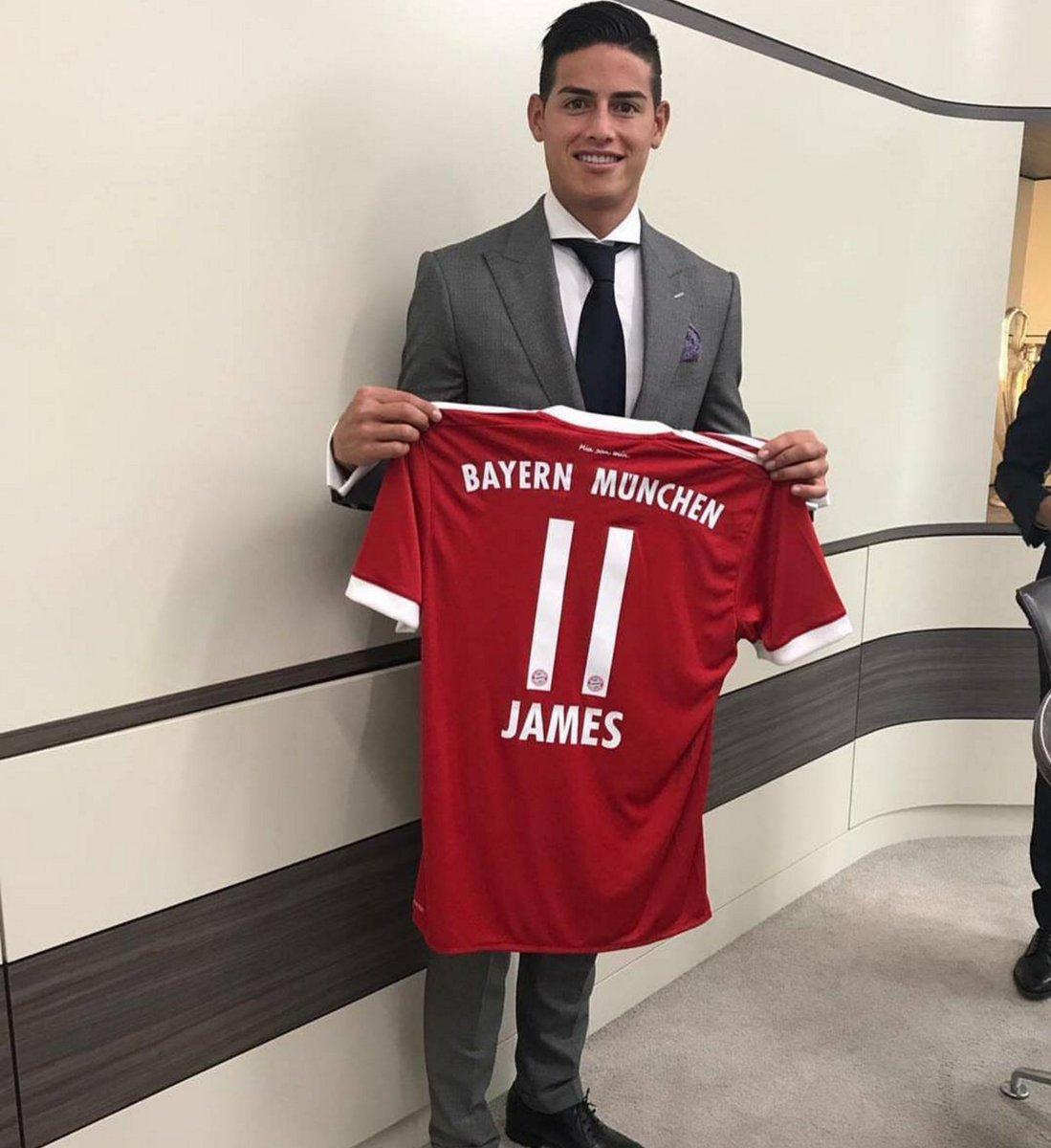 newest 576ba 6cdf8 James Rodriguez Bayern Munich : James Rodriguez wear shirt ...