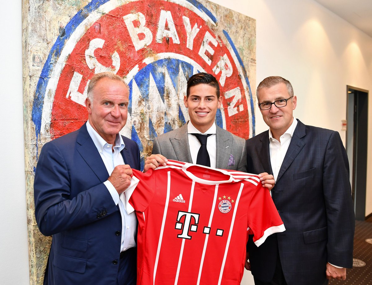 RT @FCBayernEN: Done deal! @jamesdrodriguez is officially an #FCBayern player. ✍️  #ServusJames #FCBayern #MiaSanMia https://t.co/CwyNs3RMS7