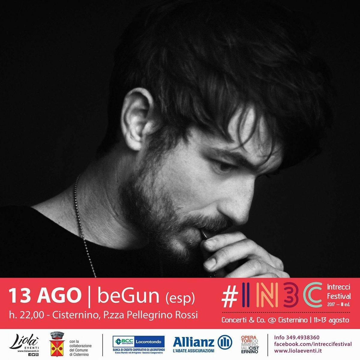 #beGun #IN3C #IntrecciFestival #13agosto #Cisternino #LiolaEventi #livemusic #valleditria #Puglia https://t.co/bMGeyqDlH1