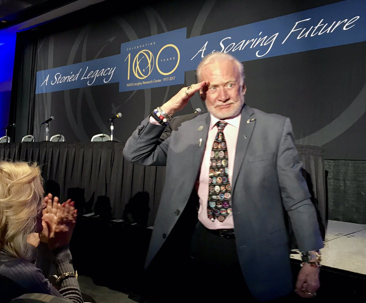 An honor to have @therealbuzz join our #nasalangley100 symposium #americanhero