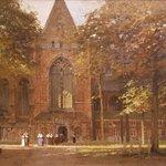 Dromen van Dordrecht. Johan Christiaan Klinkenberg; Gezicht op het Grote Kerkplein. #dordrechtsmuseum