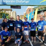 Congrats to our @AccedeMold runners for finishing the #ROC #JPMorganCorporateChallenge in a HOT & sunny Downtown Rochester #NYS