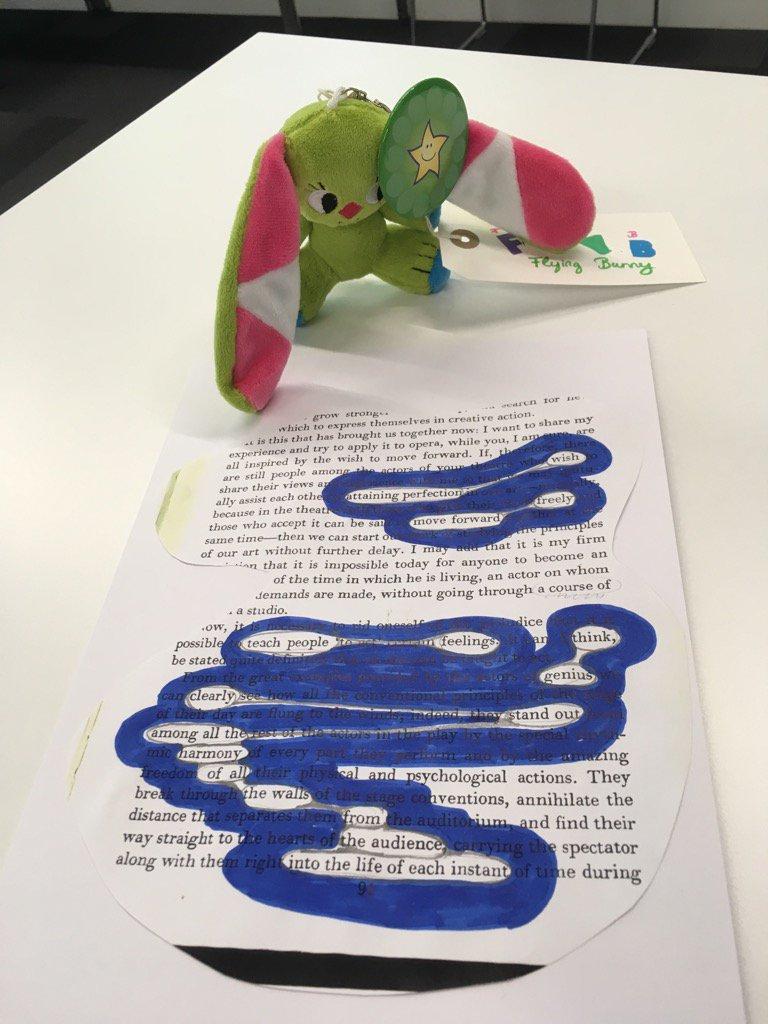 Blackout poem made at the 'Artful Grammar' session. Thanks Carla Hamer #playlearn17 https://t.co/127zBQSuNZ
