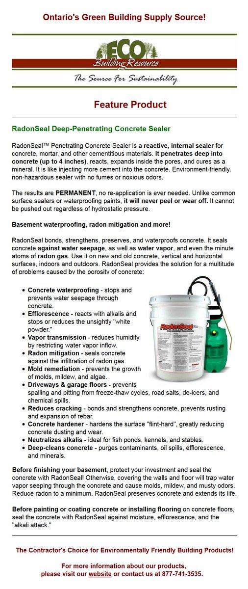 Eco Building Res On Twitter Radonseal A Safe Penetrating Concrete Sealer Ecobuilding Dampbat Concretesealer