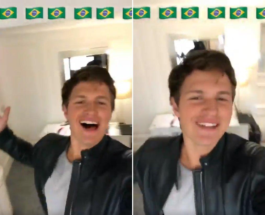 Ansel Elgort vem ao Brasil e não sabemos quem está mais animado: ele ou nós! https://t.co/uSFCL8wSVe