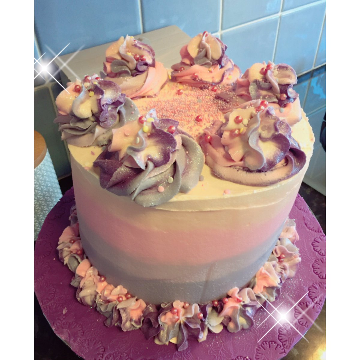 Nikki On Twitter Pink Pastels Ombr Cake Made For A Birthday This