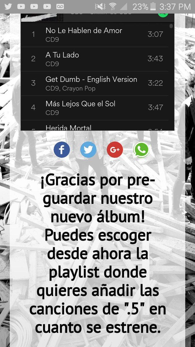 @CD9 @SpotifyMexico Ya lo hise https://t...