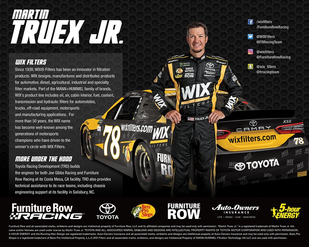 Furniture Row Racing Twitter Its Wix Wednesday Were Giving Fuel Filter Away 5 Unsigned Martintruex Jr Wixfilters 78 Hero Cards Retweet For Your Chance To Win