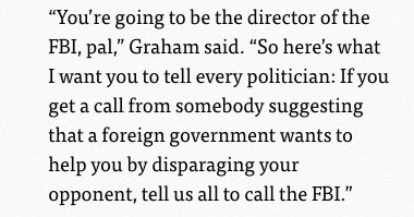 'You're going to be the director of the FBI, pal.' Lindsey Graham should play Lindsey Graham in the movie version of the Trump years: