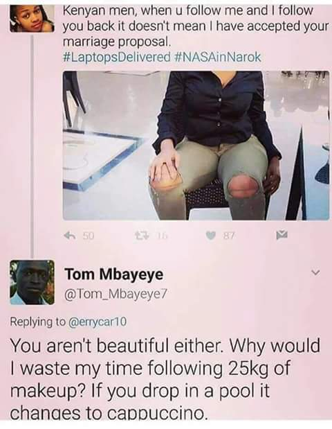 #KenyanTwitter once roasted #SouthAfricanTwitter for 2 days , from that day ngafunda inhlonipho.. some still need to learn <br>http://pic.twitter.com/o7y5exWLsp