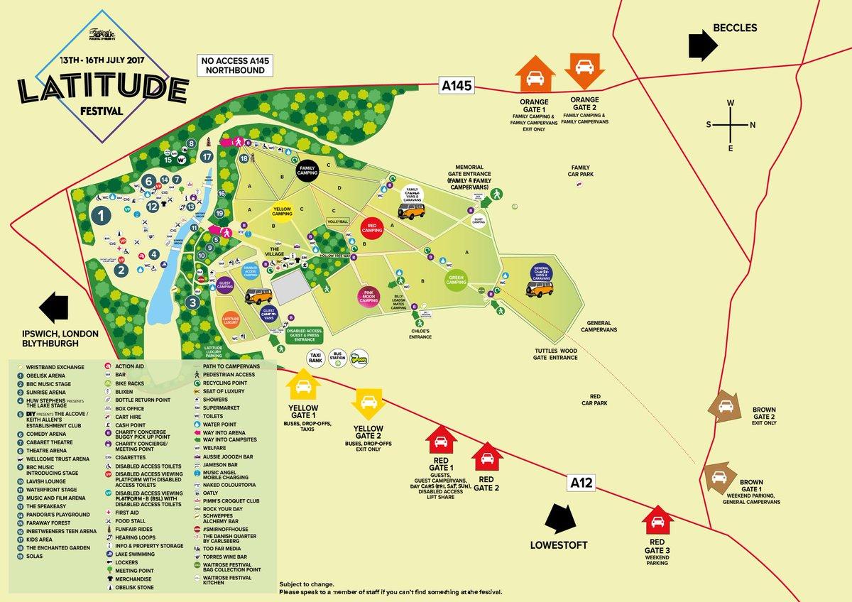 "Latitude Festival On Twitter: ""Presenting The #LatitudeFestival 2017 Map"