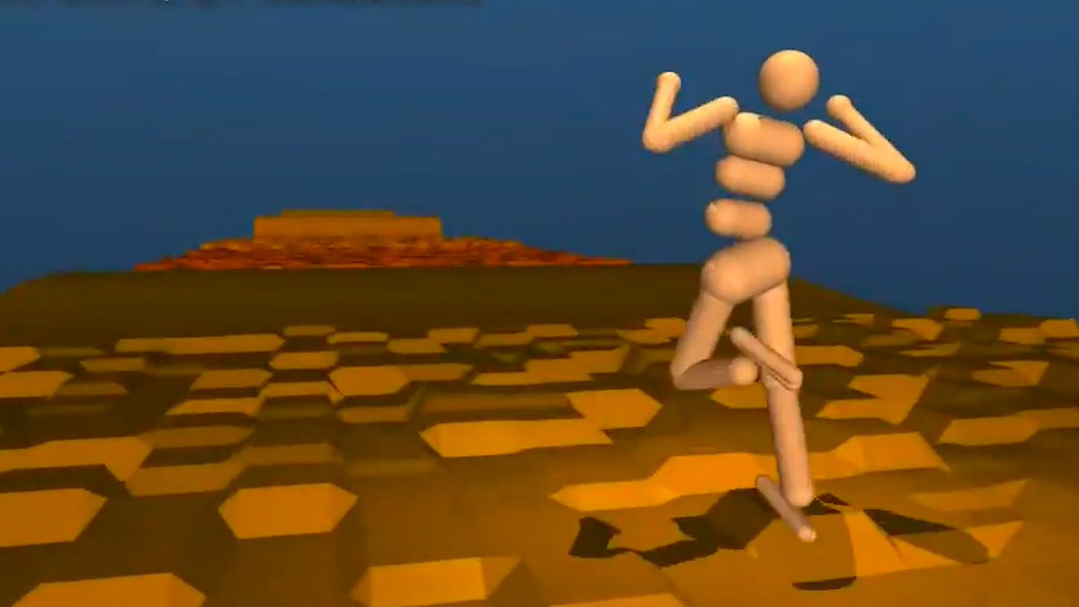 This Artificial Intelligence program managed to learn how to walk, run, jump, and climb without any prior guidance